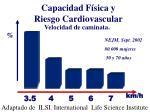 capacidad f sica y riesgo cardiovascular