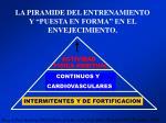 la piramide del entrenamiento y puesta en forma en el envejecimiento