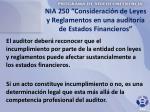 nia 250 consideraci n de leyes y reglamentos en una auditor a de estados financieros