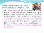diferencia esencial entre conciliaci n y mediaci n