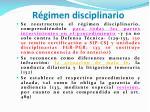 r gimen disciplinario
