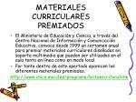 materiales curriculares premiados