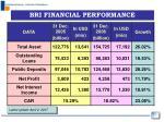 bri financial performance