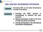 bri micro business division