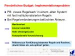 pers nliches budget implementationsproblem