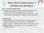 zdravotnick dokumentace v po adavc ch akreditace
