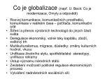 co je globalizace nap u beck co je modernizace omyly a odpov di