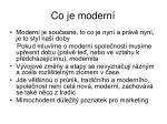 co je modern