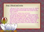 step 3 read and write