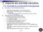 v aspecte ale activit ii educative v 2 activit i pe componente educa ionale3