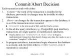 commit abort decision