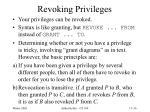 revoking privileges