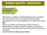 subject specific application
