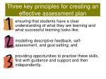 three key principles for creating an effective assessment plan