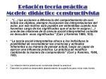 relaci n teor a pr ctica modelo did ctico constructivista