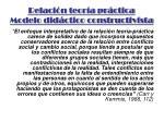 relaci n teor a pr ctica modelo did ctico constructivista1