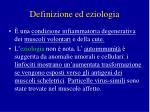 definizione ed eziologia