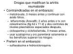drogas que modifican la artritis reumatoide
