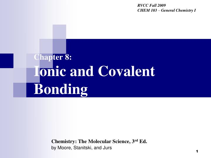 chapter 8 ionic and covalent bonding n.