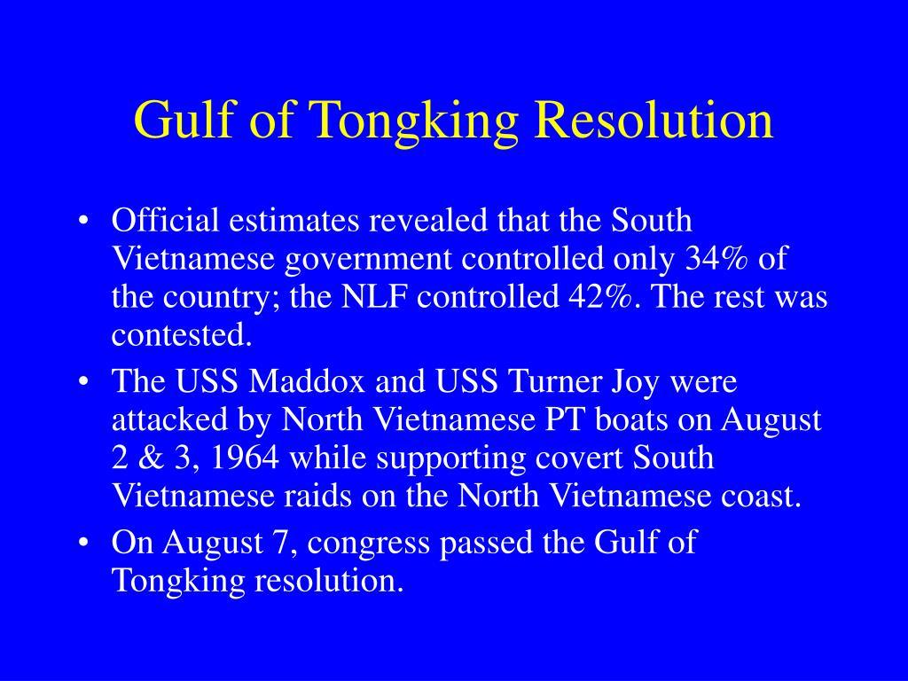 Gulf of Tongking Resolution
