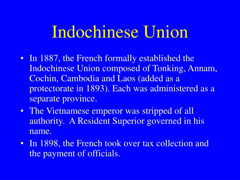 Indochinese Union