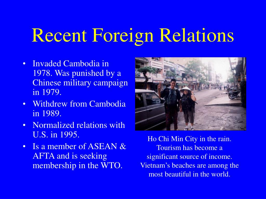 Recent Foreign Relations