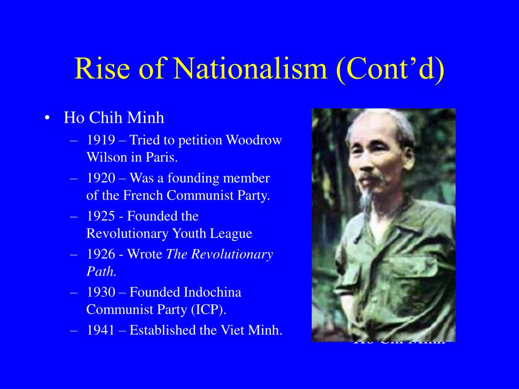 Rise of Nationalism (Cont'd)