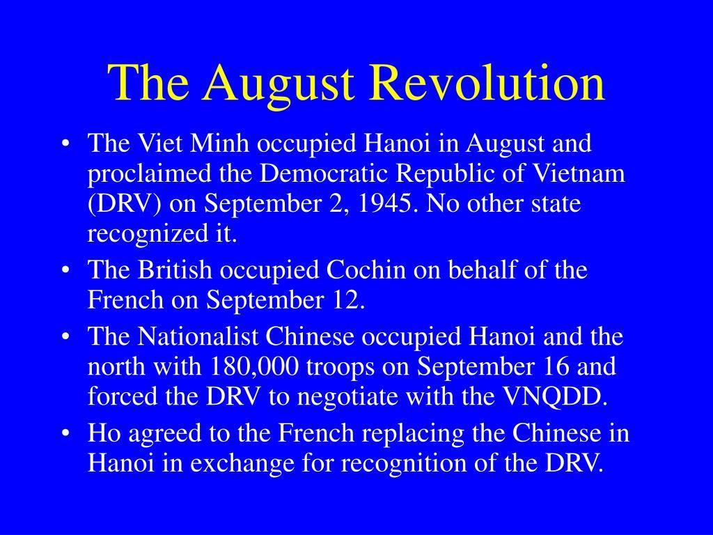 The August Revolution