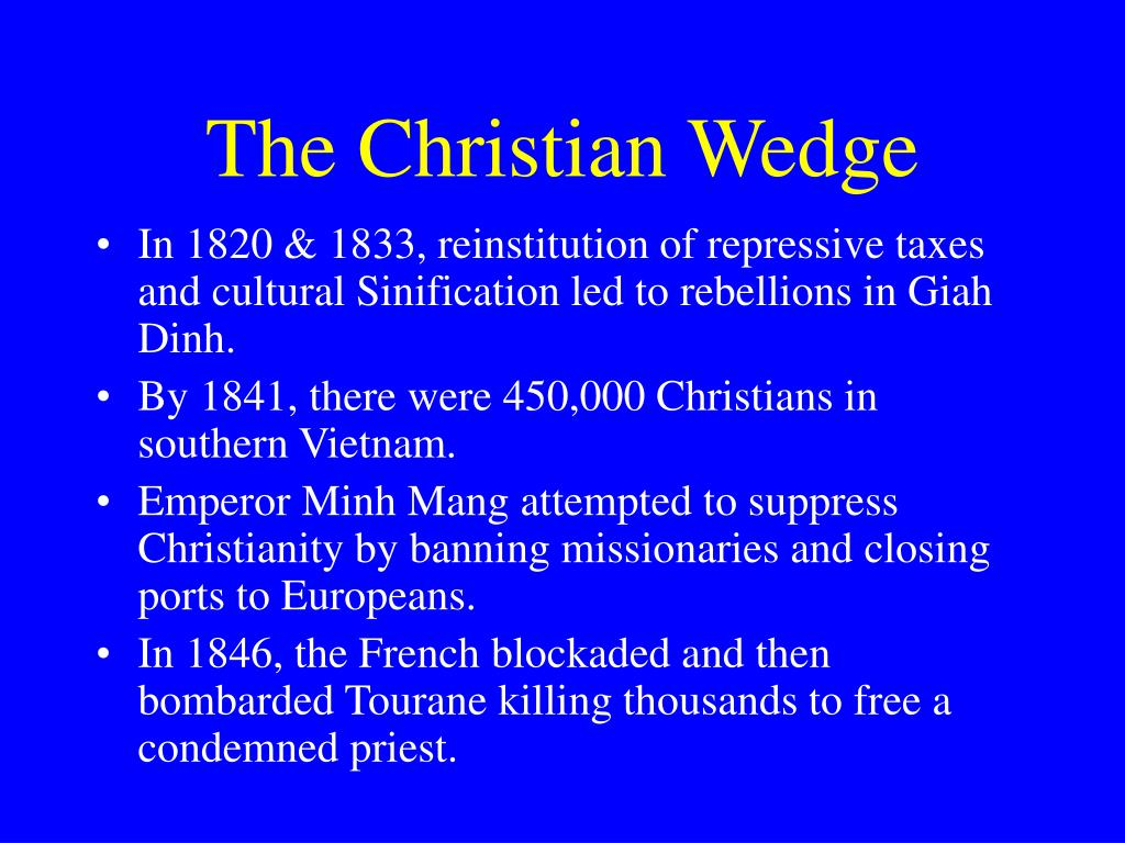 The Christian Wedge