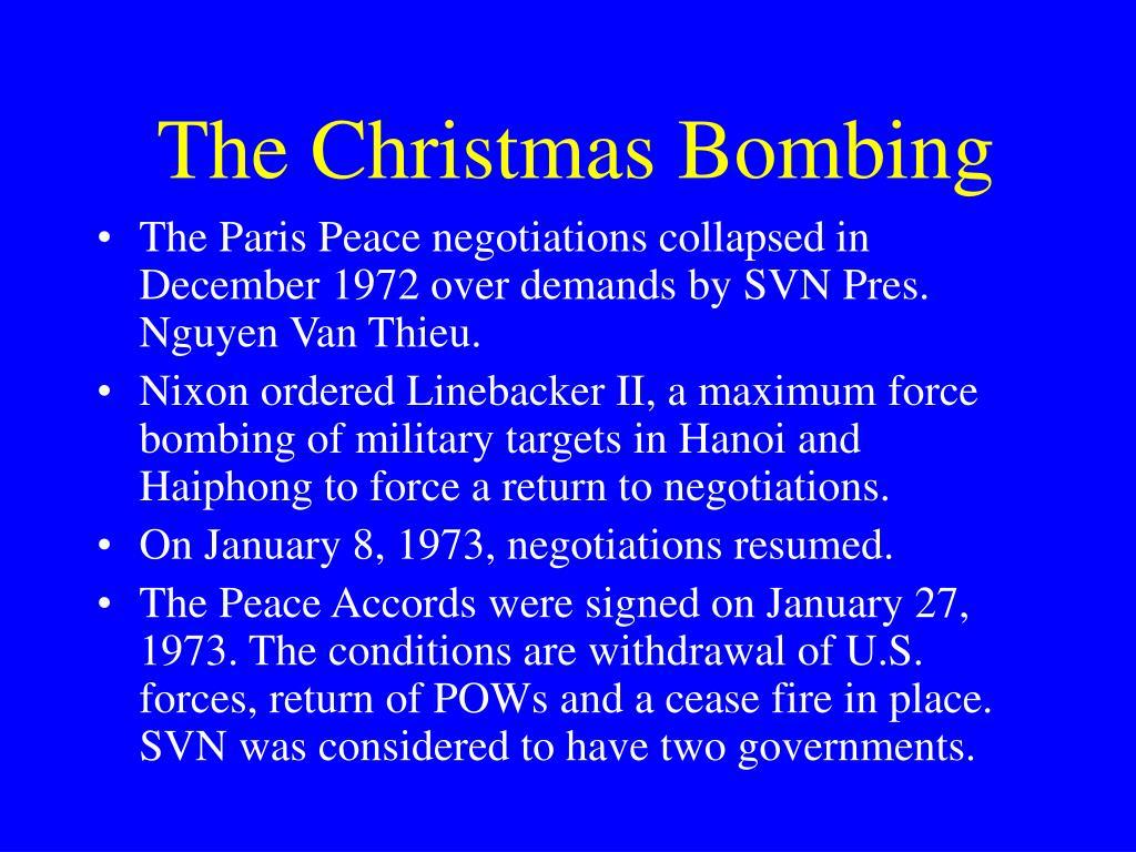 The Christmas Bombing