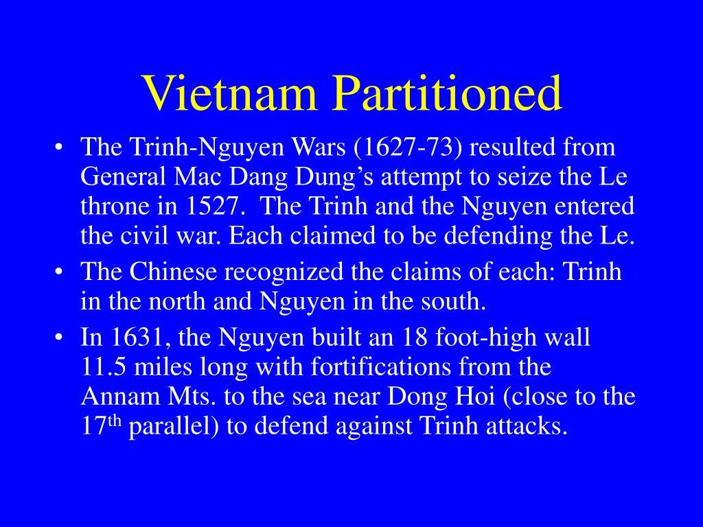 Vietnam Partitioned