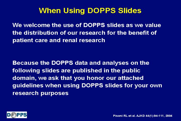 when using dopps slides n.