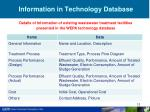 information in technology database
