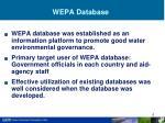 wepa database