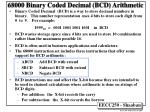 68000 binary coded decimal bcd arithmetic