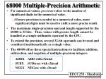 68000 multiple precision arithmetic