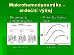 makrohemodynamika srde n v dej