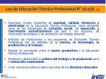 ley de educaci n t cnico profesional n 26 058 2 2
