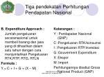 tiga pendekatan perhitungan pendapatan nasional1