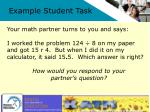 example student task