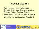 teacher actions