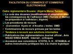 facilitation du commerce et commerce electronique