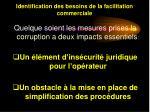 identification des besoins de la facilitation commerciale12