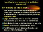 identification des besoins de la facilitation commerciale18