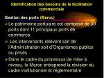 identification des besoins de la facilitation commerciale22
