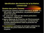 identification des besoins de la facilitation commerciale23