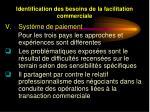 identification des besoins de la facilitation commerciale31
