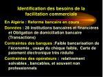identification des besoins de la facilitation commerciale32