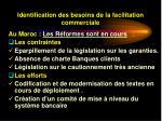 identification des besoins de la facilitation commerciale34