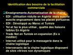 identification des besoins de la facilitation commerciale38